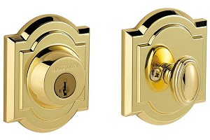 Baldwin Prestige Series Arched Deadbolt Lifetime Polished Brass