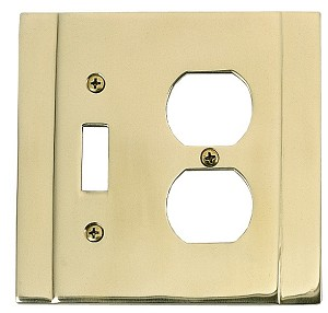Brass Accents Contemporary Switchplate