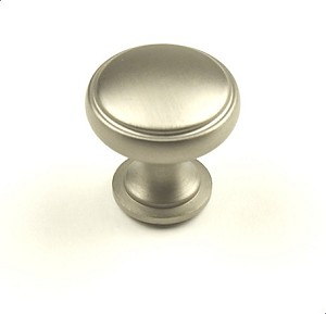 Century Regal 1 3/16 Inch Cabinet Knob in Dull Satin Nickel