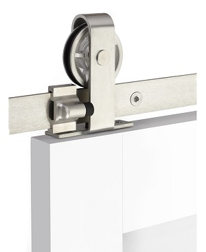 Emtek Classic Top Mount Barn Door Kit - Stainless Steel