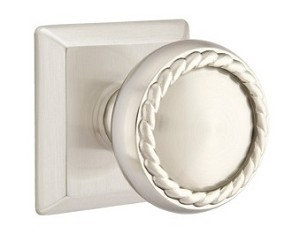 Emtek Rope Knob with Quincy Rosette