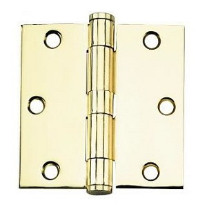 PHG 3-1/2 Inch Commercial Grade Plain Bearing Hinge with Square Corners (each)