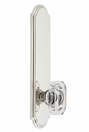 Grandeur Arc Tall Plate with Baguette Crystal Knob