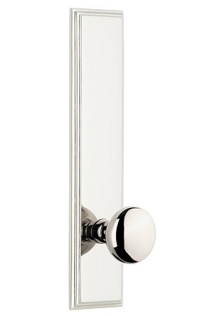 Grandeur Carre Tall Plate with Fifth Avenue Knob