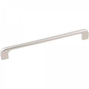 Hardware Resources Alvar 8-1/4 Inch Overall Cabinet Pull - Polished Nickel
