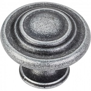 Hardware Resources Arcadia 1-1/4 Inch Cabinet Knob - Distressed Antique Silver