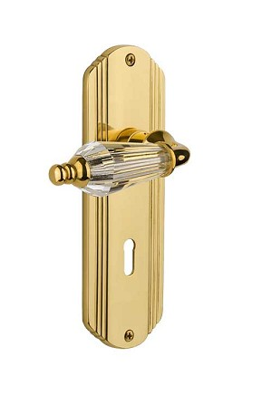 Nostalgic Warehouse Deco Plate with Parlour Knob - Mortise Lock