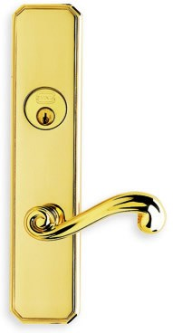 Omnia Max Steel Mortise Sideplate Lock Style 11055