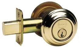 Omnia Style 0806 Double Cylinder Deadbolt with Traditional Collar