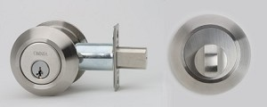 Omnia Stainless Steel Single Cylinder Deadbolt Style D9000