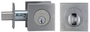 Omnia Stainless Steel Single Cylinder Deadbolt Style D9000S