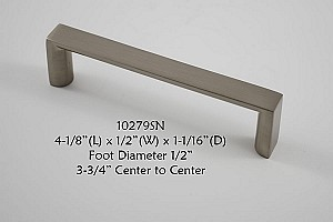 Residential Essentials 10279 Cabinet Pull in Satin Nickel