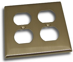 Residential Essentials Double Plug Plate