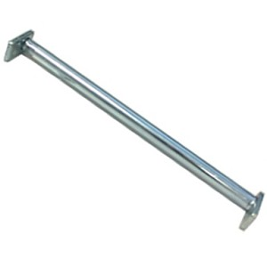 Adjustable Closet Rod - Silver Zinc Plate