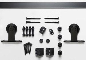 Sure-Loc 96 Inch Track Top Mount Barn Door Track System - Flat Black