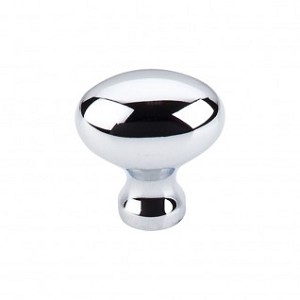 Top Knobs Somerset 1 1/4 Inch Egg Cabinet Knob - Polished Chrome