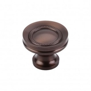 Top Knobs Brixton 1 1/4 inch Rimmed Knob - Ash Gray