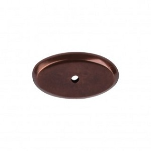 Top Knobs Aspen Oval Backplate - Mahogany Bronze