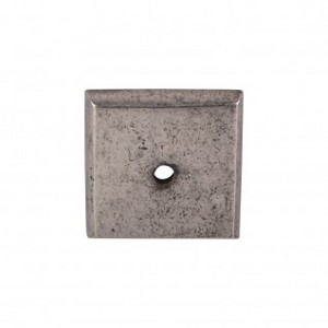 Top Knobs Aspen Square Backplate - Silicone Bronze Light