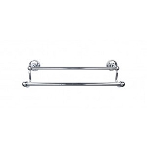 Top Knobs ED7PCE Edwardian 18 inch Double Towel Bar - Polished Chrome