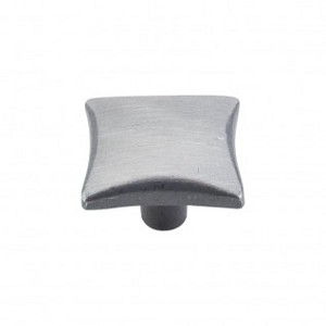 "Top Knobs Chateau 1 3/8"" Square Knob - Pewter"