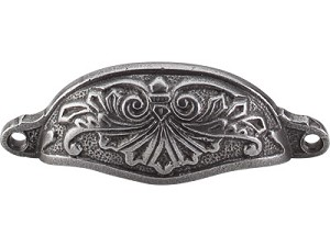 Top Knobs Chateau Abbot 3 15/16 Inch CC Cup Pull - Pewter
