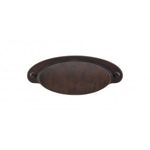 Top Knobs Dakota Cup Pull 2 9/16 Inch (C-C)-Patina Rouge