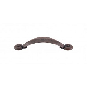 Top Knobs M1729 Angle Pull 3 Inch (C-C)- Patina Rouge