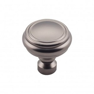 Top Knobs TK880AG Brixton 1 1/4 inch Rimmed Knob - Ash Gray