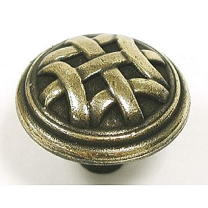 "Top Knobs Tuscany Celtic 1 1/4"" Large Knob - Dark Antique Brass"