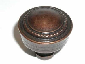 "Top Knobs Tuscany Contessa 1 1/4"" Knob - Antique Copper"