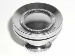Top Knobs Somerset Button Faced 1 1/4 Inch Cabinet Knob - Polished Chrome