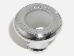 Top Knobs Somerset Swirl Cut 1 1/4 Inch Cabinet Knob - Polished Chrome