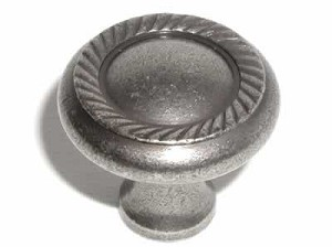 Top Knobs Somerset Swirl Cut 1 1/4 Inch Cabinet Knob - Antique Pewter