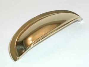Top Knobs Somerset 3 Inch CC Cup Pull - Polished Brass