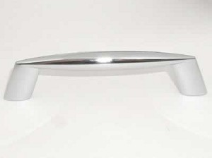 Top Knobs Nouveau II 3 3/4 Inch CC Cabinet Pull - Polished Chrome