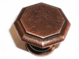 "Top Knobs Britannia Devon 1 1/4"" Knob - Antique Copper"