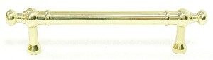 Top Knobs 3 3/4 Inches CC Appliance Handle - Polished Brass