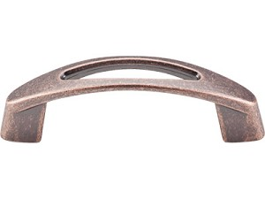 Top Knobs Nouveau 3 Inch CC Verona Pull - Antique Copper
